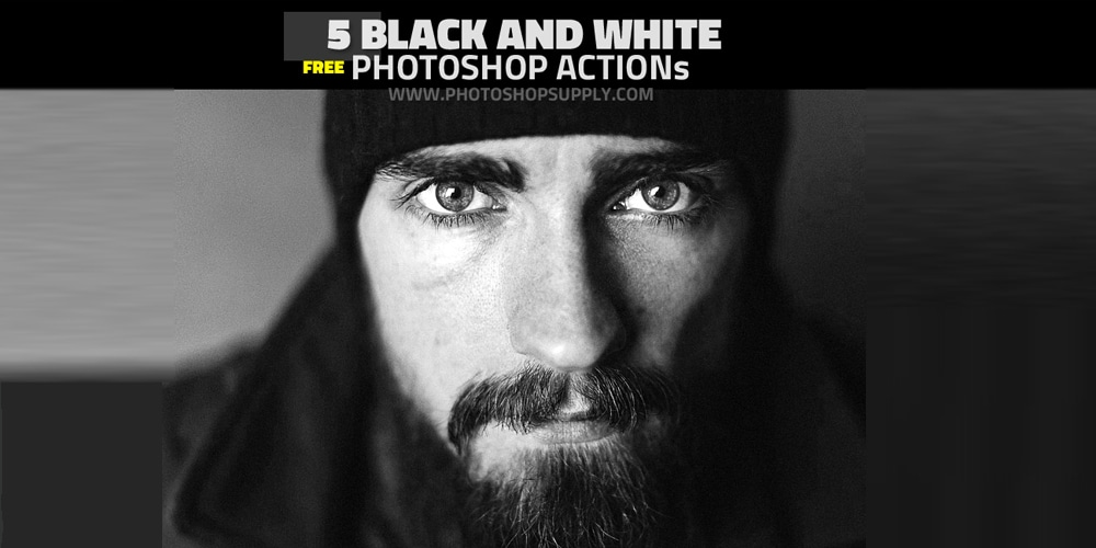 Free Black and White Action for Photoshop