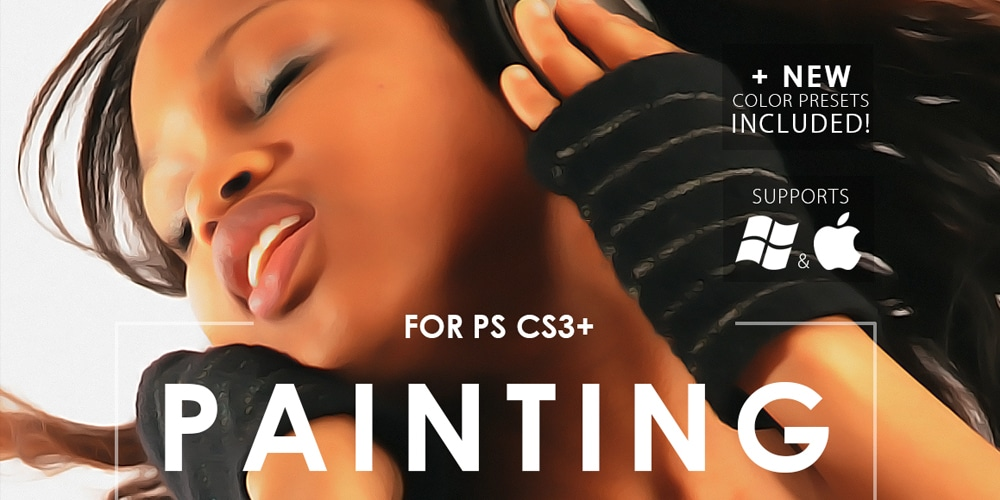 Free Realistic Painting Photoshop Action