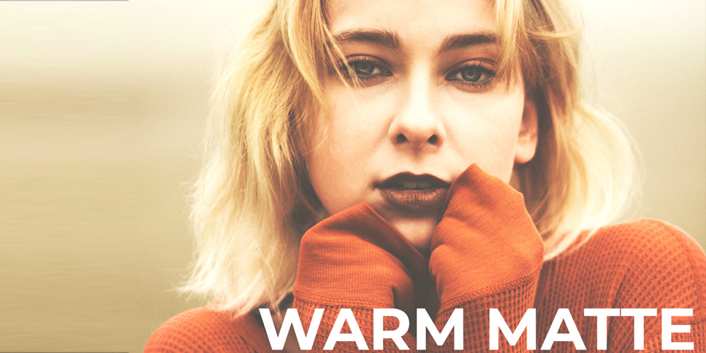 Free Warm Matte Photoshop Actions