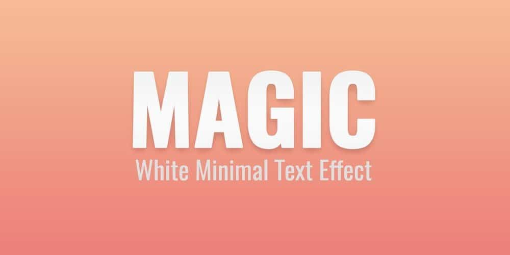 Free White Minimal Text Effect PSD