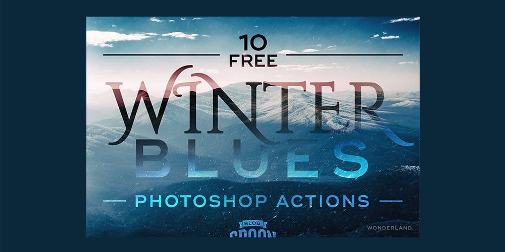 Free Winter Blues Photo Effect Actions for Adobe Photoshop