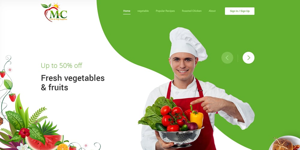 Fruit and Vegetable Template PSD