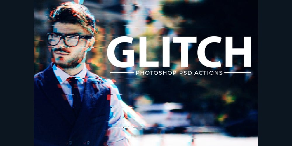 Glitch Effect Photoshop Action Kit