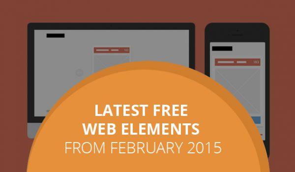 Latest Free Web Elements From February 2015