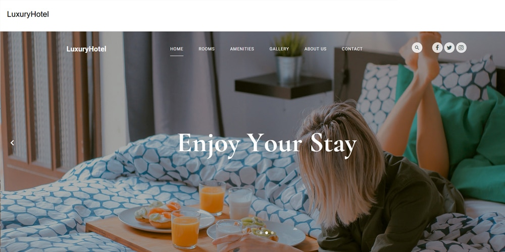 Luxury Hotel HTML template