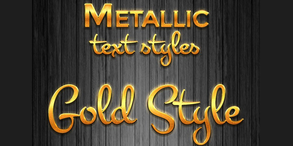Metallic Layer Text Styles PSD