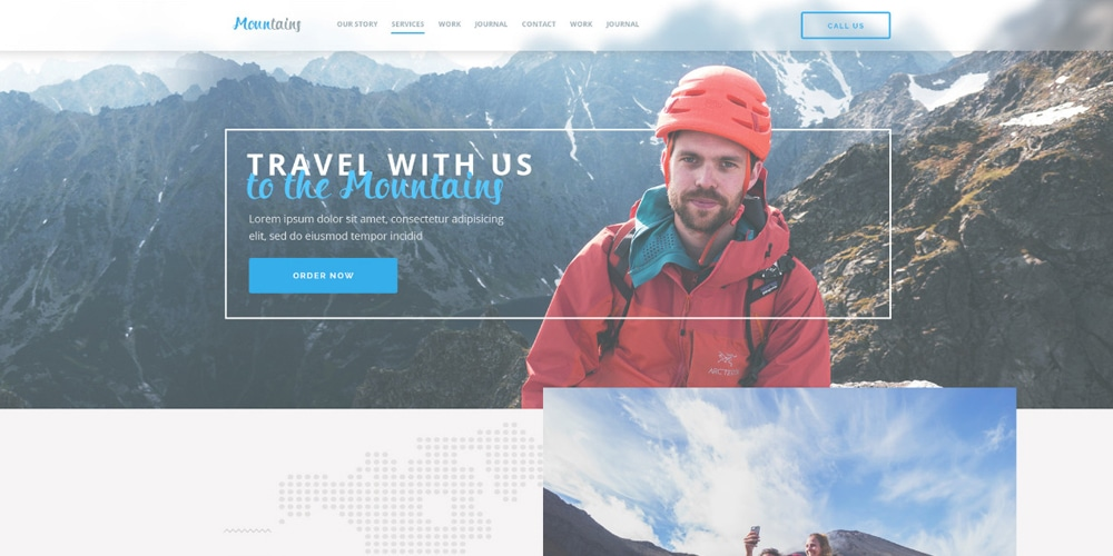 Mountains Landing Page Template