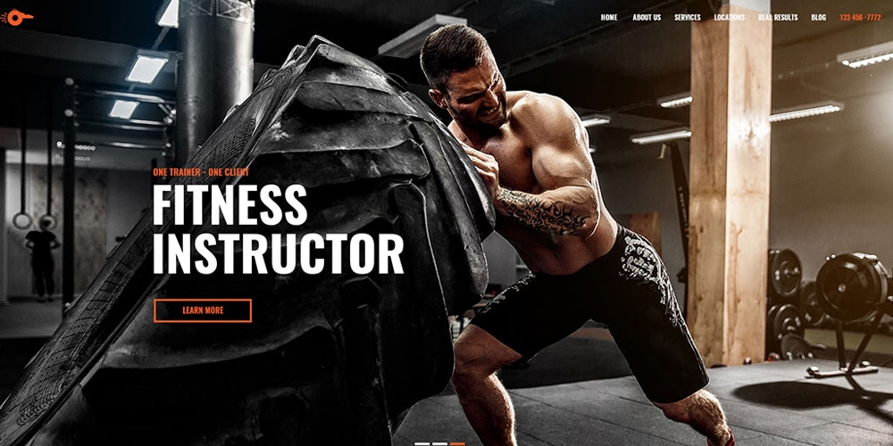 Personal Trainer Web Template