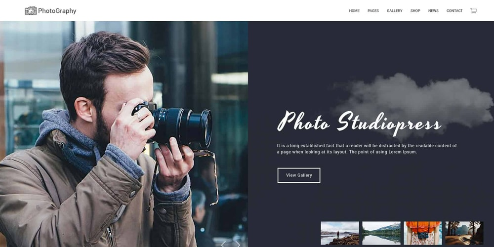 Photography Template PSD