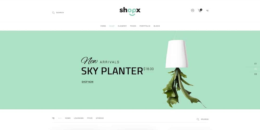Shopx Responsive eCommerce Store Template PSD