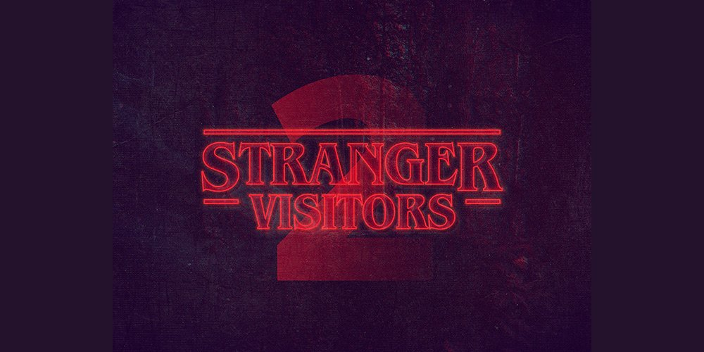 Stranger Things PS Text Style PSD