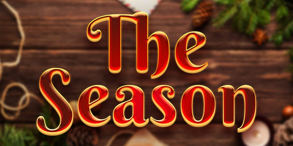 The Season Text Style PSD