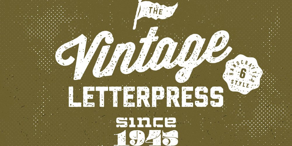 Vintage Letterpress Text Effects PSD