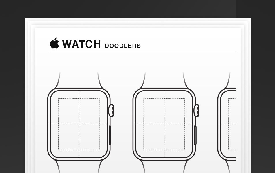 Watch Doodlers - Wireframe Sketch Template
