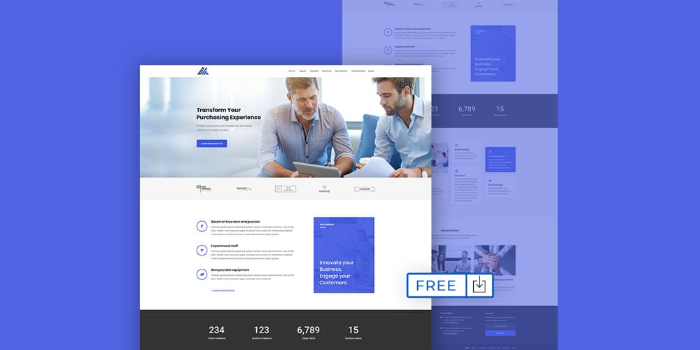 Web Template for Modern Company
