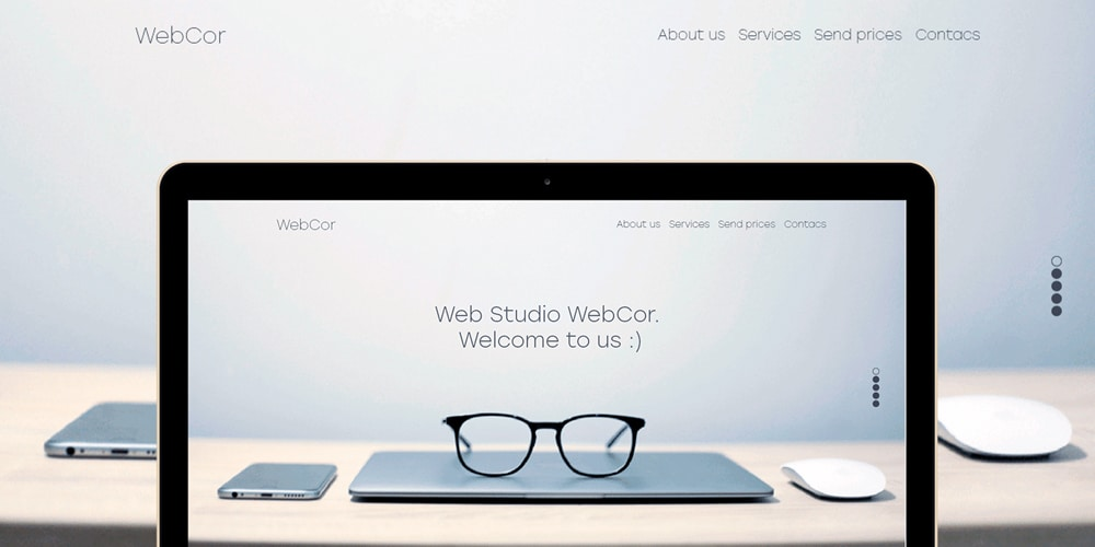 Webcor Landing Page PSD