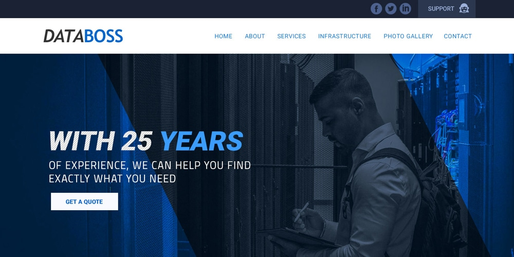 Webhosting Site Template PSD