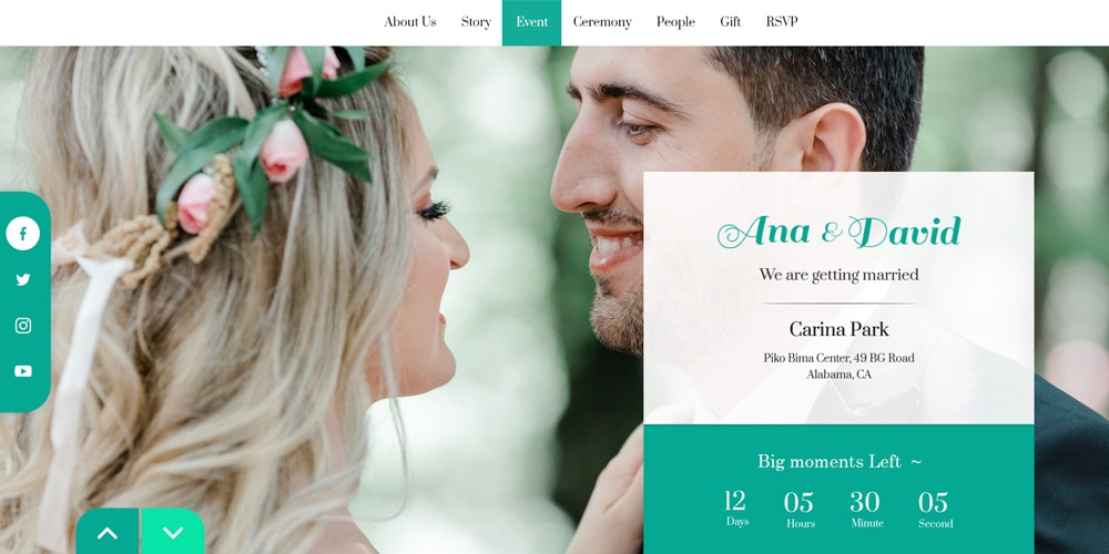 Website Template for Weeding or Marriage