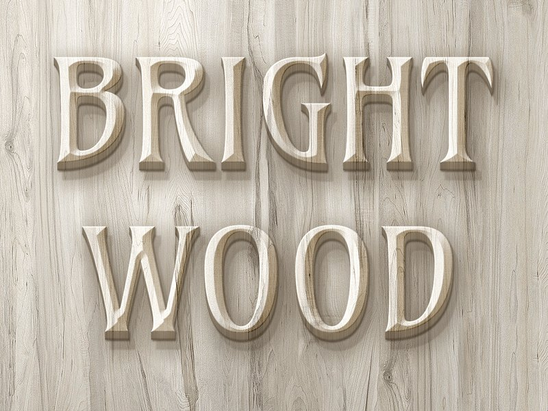 Wood Text Effect PSD PSD