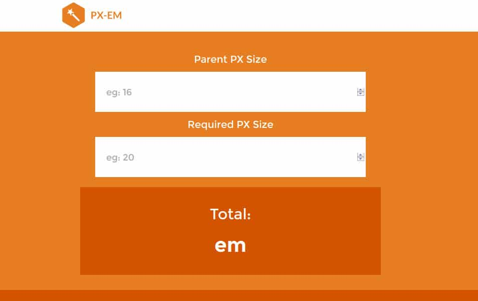 px-em - px to em Calculator