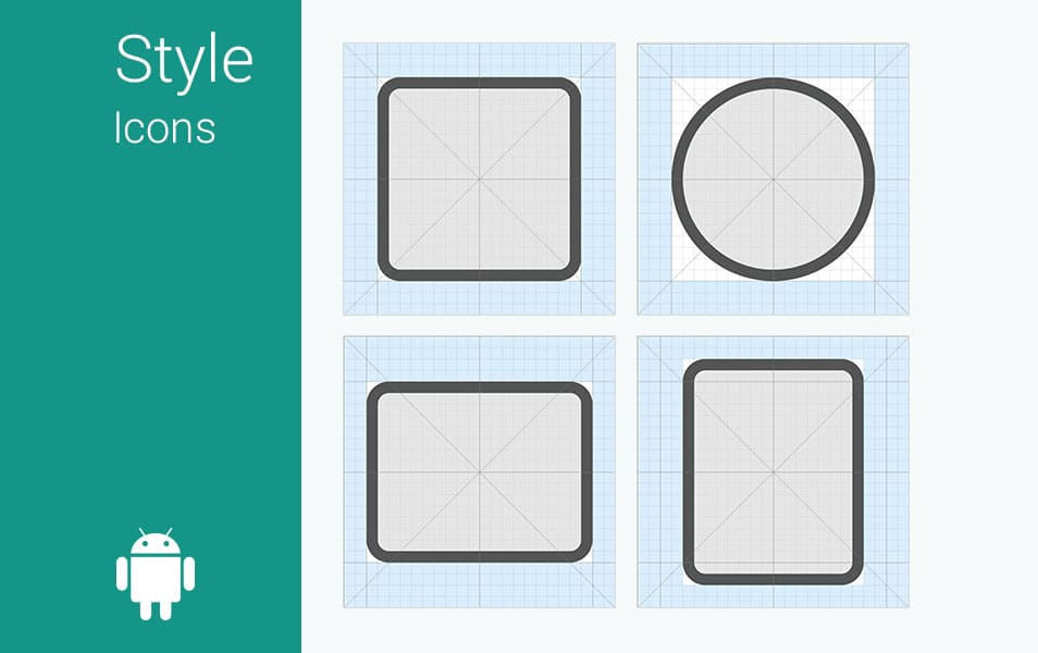 Android L - Icon Grid System