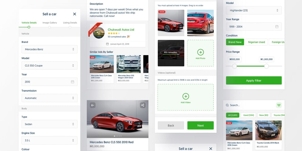 Car Shop App UI Template