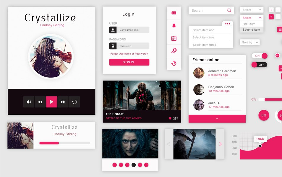 Crystallize Free Material Ui Kit