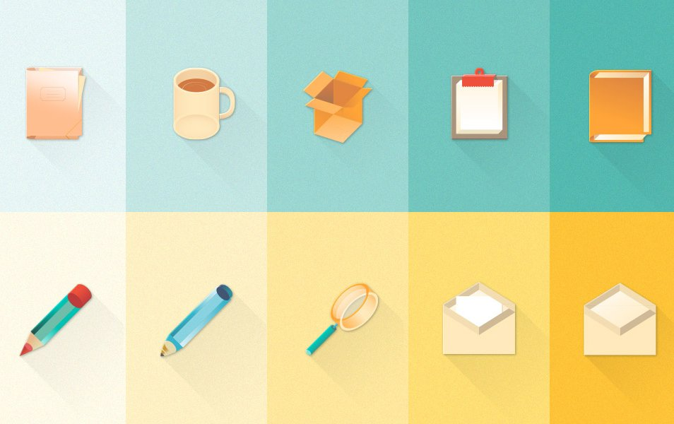 Free New Set of Material Design Stationary Icons