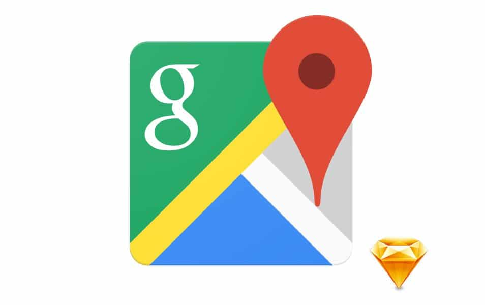 Google Maps Sketch Icon