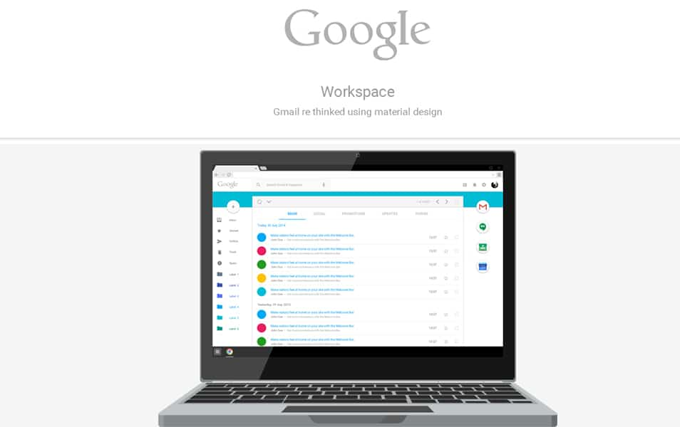 Google Workspace – rethinking Gmail