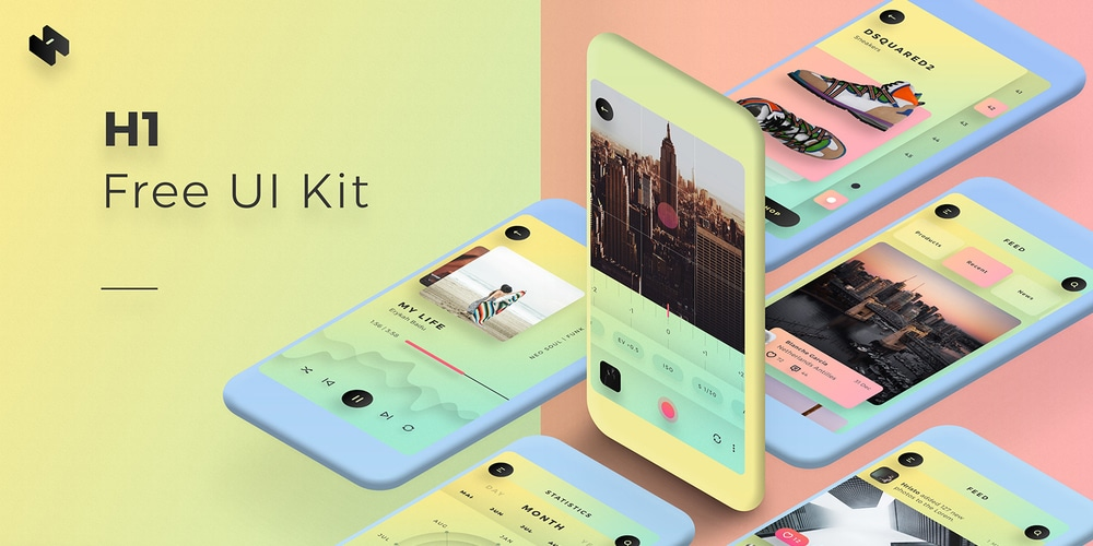 H1 Free Mobile UI Kit