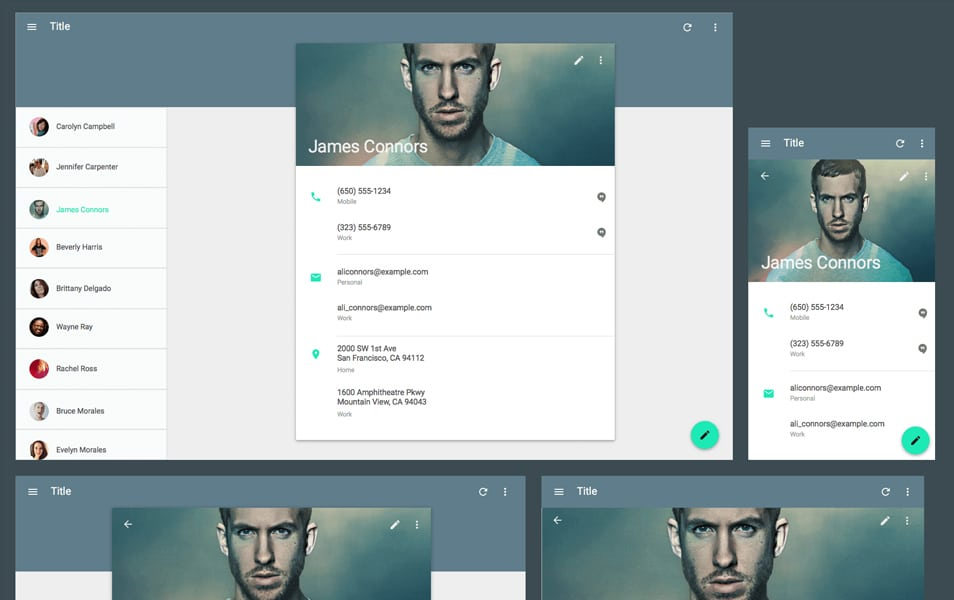 Material Design Sketch Template v2