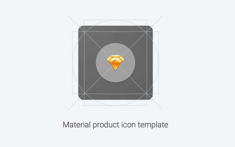 Material Product Icon Template