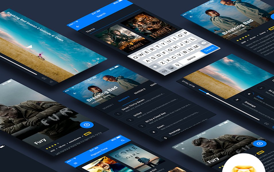 UI Kit Movie App Material Design