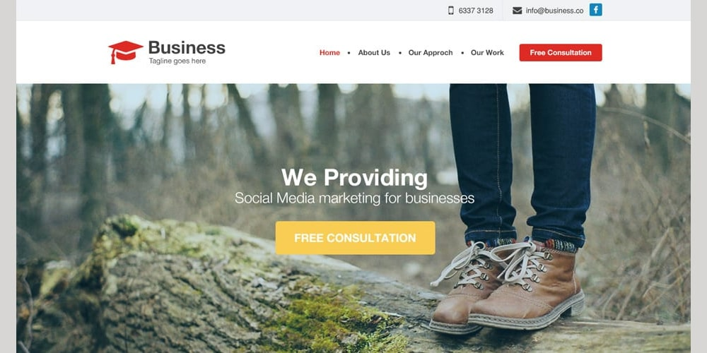 Agency Business Website Template PSD