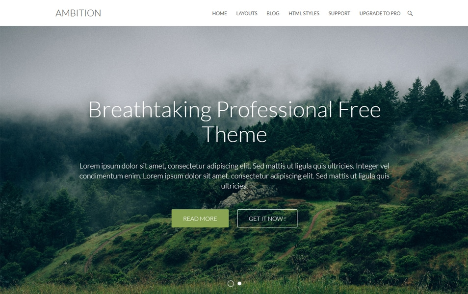 Ambition Responsive WordPress Theme
