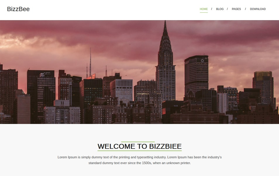 BizzBee Responsive WordPress Theme
