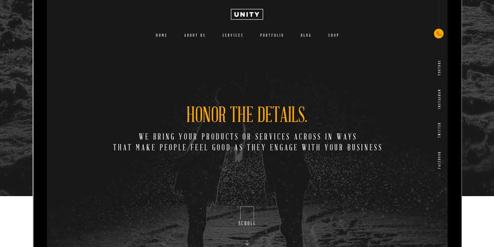 Honor - Free Business Web Template PSD