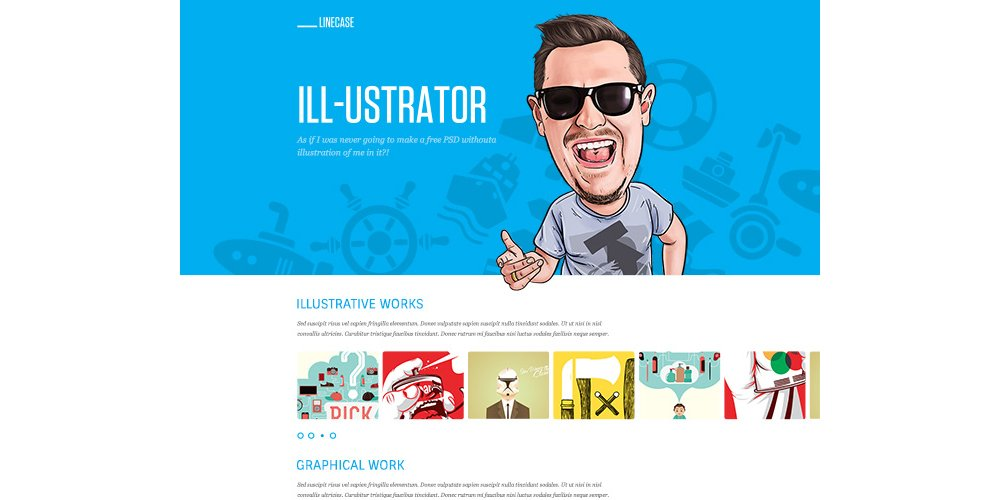 LineCase Fresh Bright Website PSD