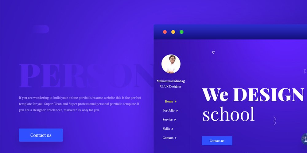 Free Portfolio Website Templates (PSD) » CSS Author