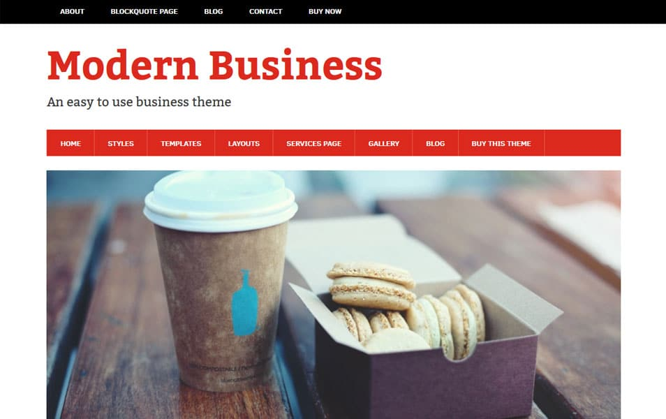 Modern Business WordPress Theme
