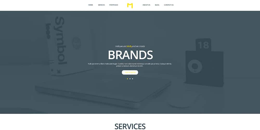 Molly Bootstrap Single Page Portfolio Template