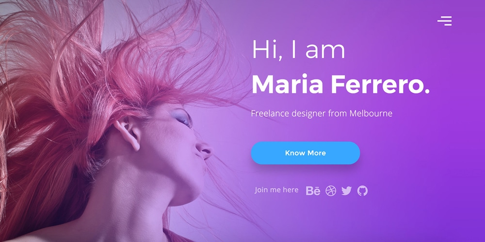 One Page Personal Portfolio Bootstrap Template