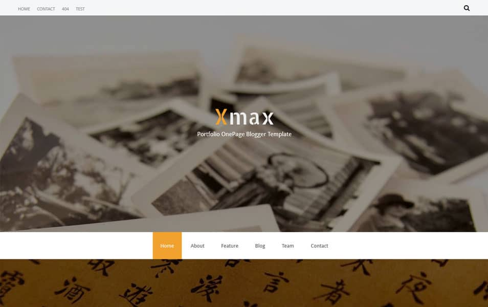 Xmax One Page Portfolio Blogger Template