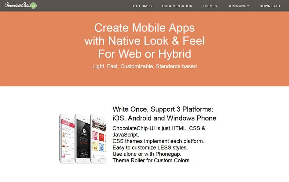 50+ Mobile Application Frameworks (HTML, CSS & Js)