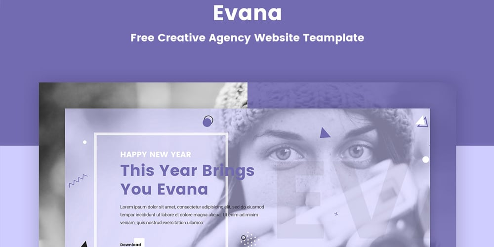 Evana Creative Agency Website Template