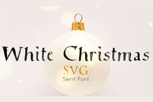 Free White Christmas SVG Font