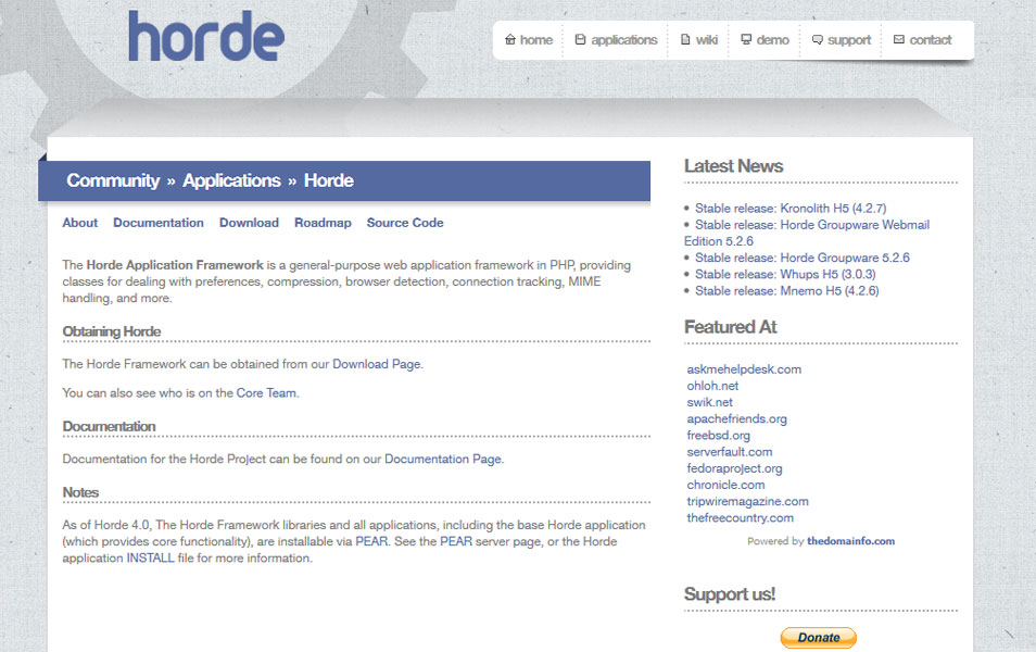 Horde Application Framework