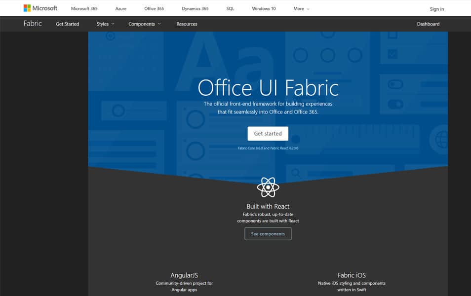 Office UI Fabric Core