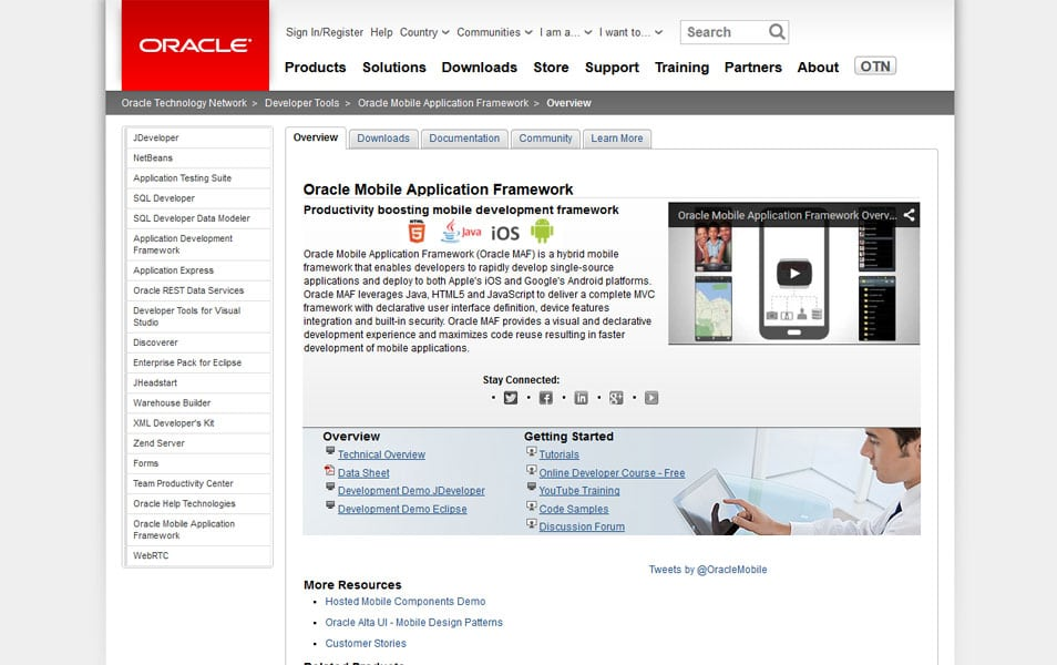 Oracle Mobile Application Framework